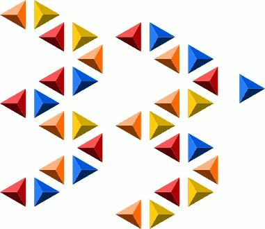 33 треугольные призмы