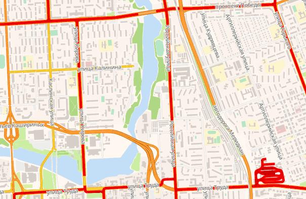 Схема трамвайных путей