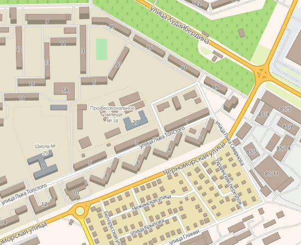 Фрагмент карты Стерлитамака