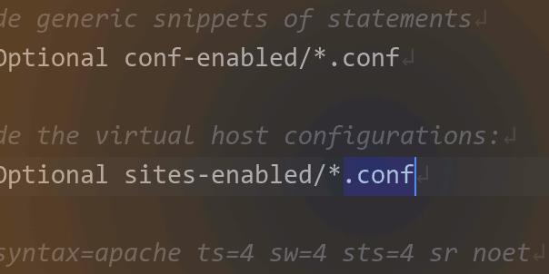 Кусок конфигурационного файла