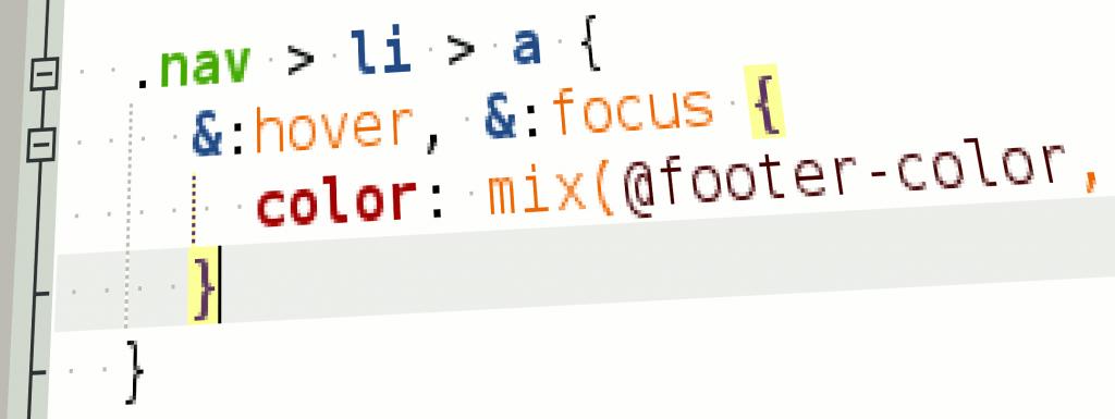 Подсветка синтаксиса LESS-файлов в geany