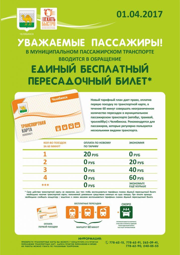 Плакат про езду с пересадками