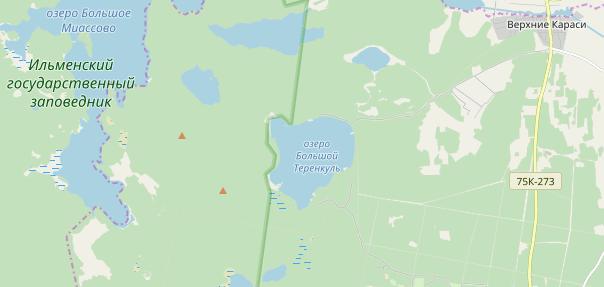 Большой Теренкуль на карте OSM