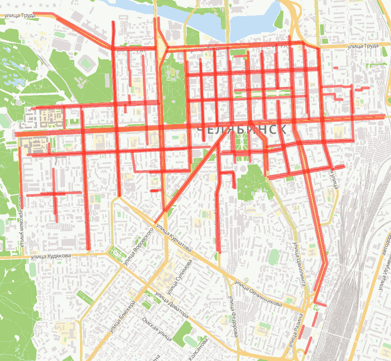 Карта будущих челябинских парковок