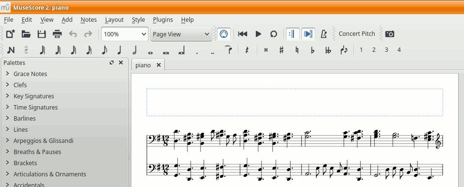 MuseScore — результат импорта