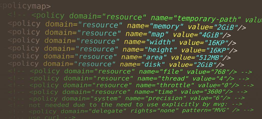 Фрагмент файла policy.xml из настроек ImageMagick